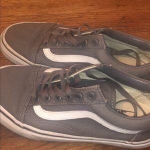 Women's gray vans shoes